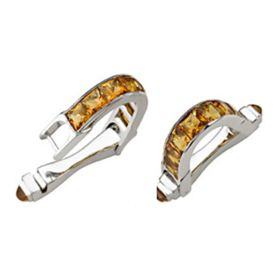 18K Gold Art Deco Reproduction Citrine Cufflink (6.95 cts.tw)