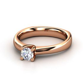 14k Rose Gold Round Prong Solitaire Diamond Ring (0.50.ct.tw)