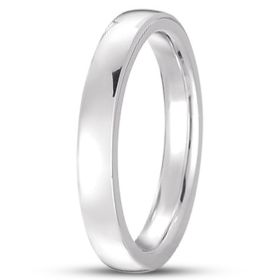 14k Plain Gold Low Dome Comfort Fit Wedding Band (4.0 mm)