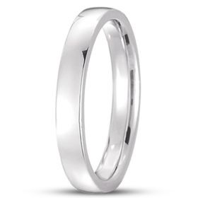 14k Gold Low Dome Comfort Fit Wedding Band (3.0 mm)