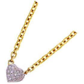 14k Two-Tone Gold Diamond Heart-Shaped Necklace (0.24.ct.tw)