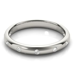14k Solid White Gold Diamond Stackable Ring (0.21.ct.tw)