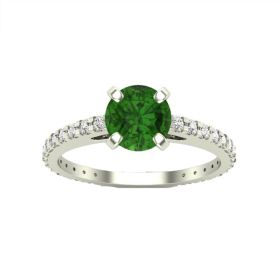 14k Forest Green Diamond Engagement Ring (0.65.ct.tw)