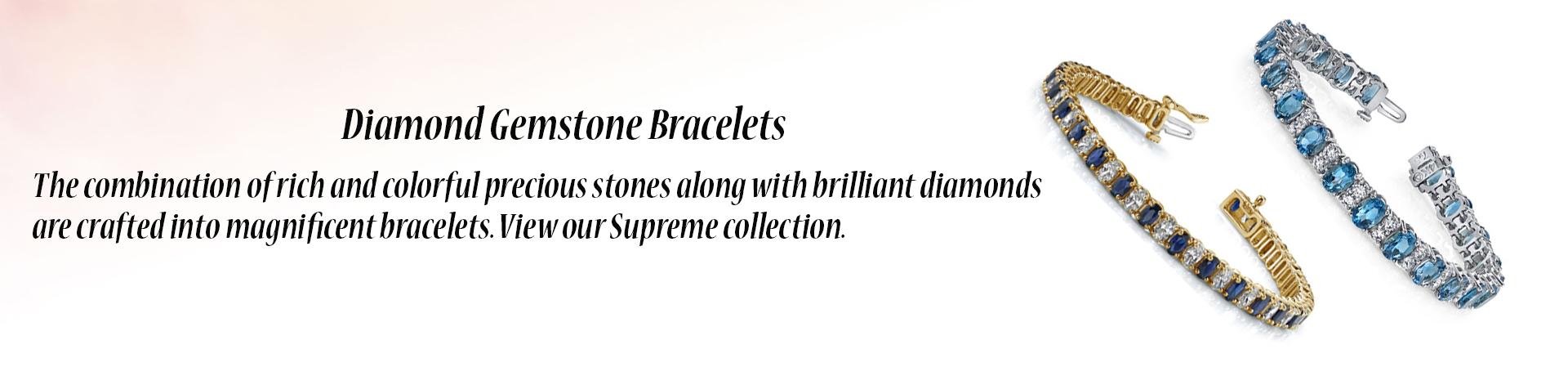 Diamond Gemstone Bracelets