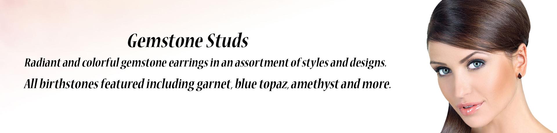 Gemstone Stud